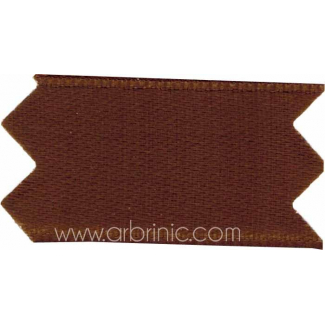 Satin Ribbon double face 25mm Brown (by meter)