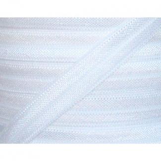 Shinny Fold Over Elastic Oekotex 15mm White (100m roll)