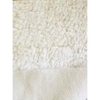 Organic cotton plush fabric