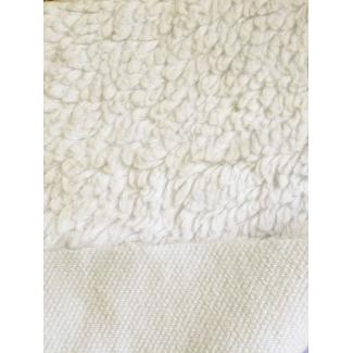 Lamb Skin plush fabric Organic GOTS Natural