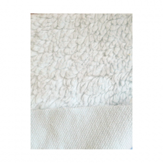 Lamb Skin plush fabric Organic GOTS Off-white
