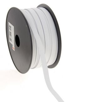 Woven Elastic White 10mm (50m roll)