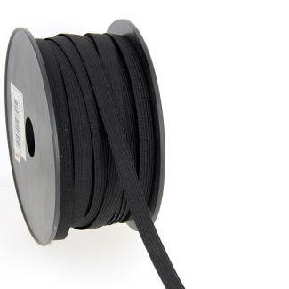 Woven Elastic Black 10mm (50m roll)