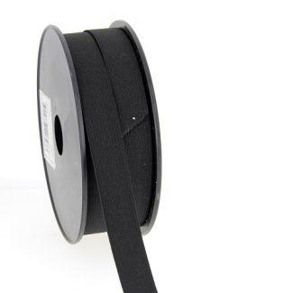 Elastique Maille 20mm Noir (bobine 25m)