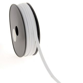 Elastique Bracelet 7mm Blanc (bobine 50m)