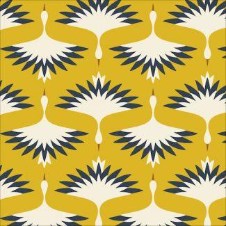 Velours milleraies Coton Bio imprimé A Walk Remembered Swooping Cranes Cloud9