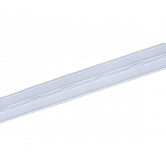 Buttonhole Elastic White 20mm (by meter)