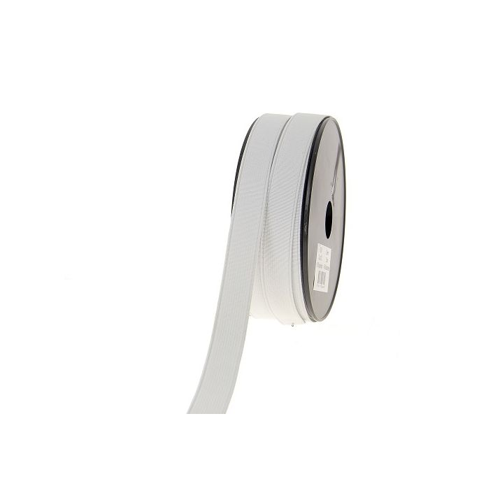 Ribbed Elastic White 20mm (by meter)
