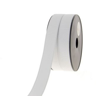 Elastique Côtelé 25mm Blanc (au mètre)