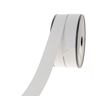 Elastique Côtelé 30mm Blanc (au mètre)