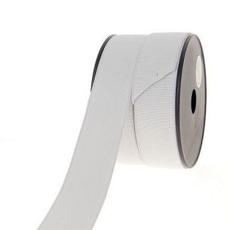 Ribbed Elastic White 40mm (25m roll)