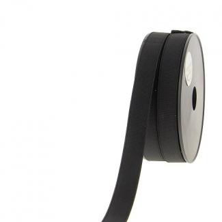 Ribbed Elastic Black 20mm (by meter)