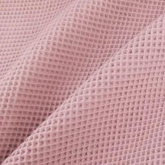 Nid d'abeille de coton BIO Rose Zefyr