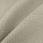 GOTS Organic cotton waffle Cinder Grey