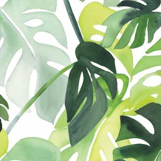 Coton Bio imperméable Philodendron Cloud9