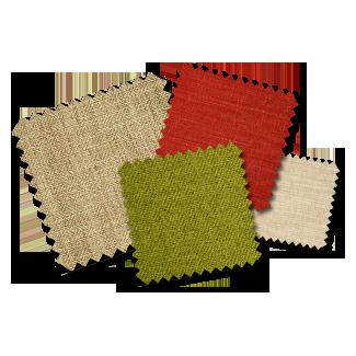 4 Fabric samples (4 pieces 5cm x 5cm)