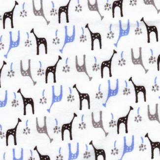 PUL poly print Ice giraffes width 140cm (per 10cm)