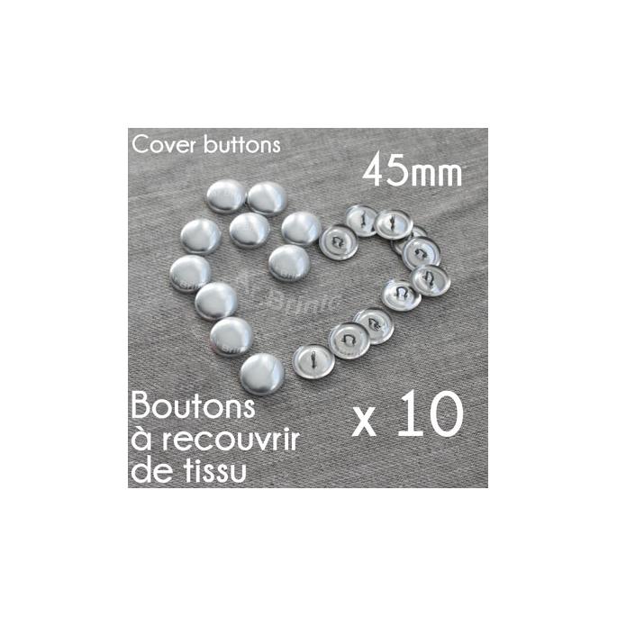 Boutons à recouvrir - à coudre 45mm (x10)