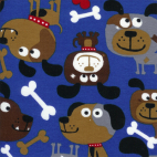 Flannel Blue Dogs