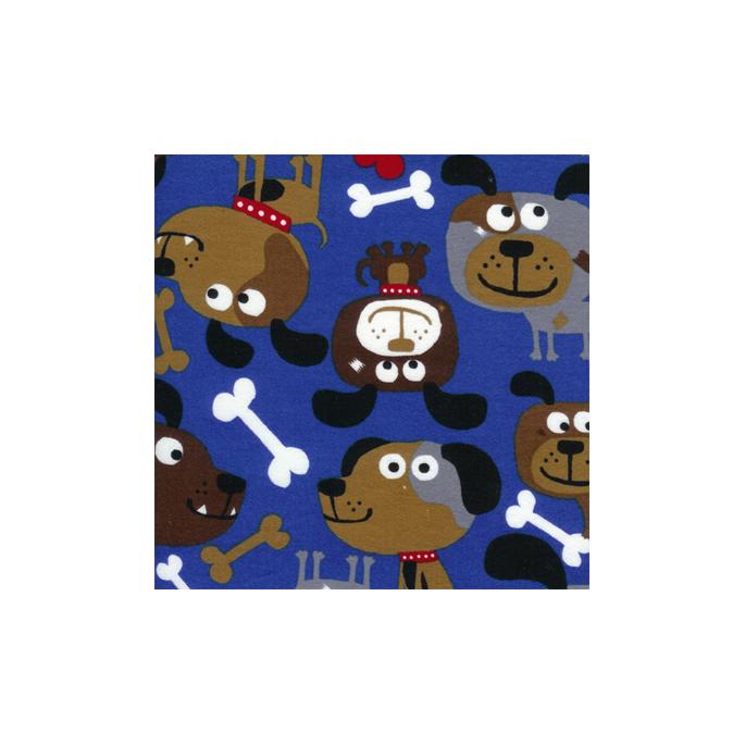 Flanelle Chiens Bleus