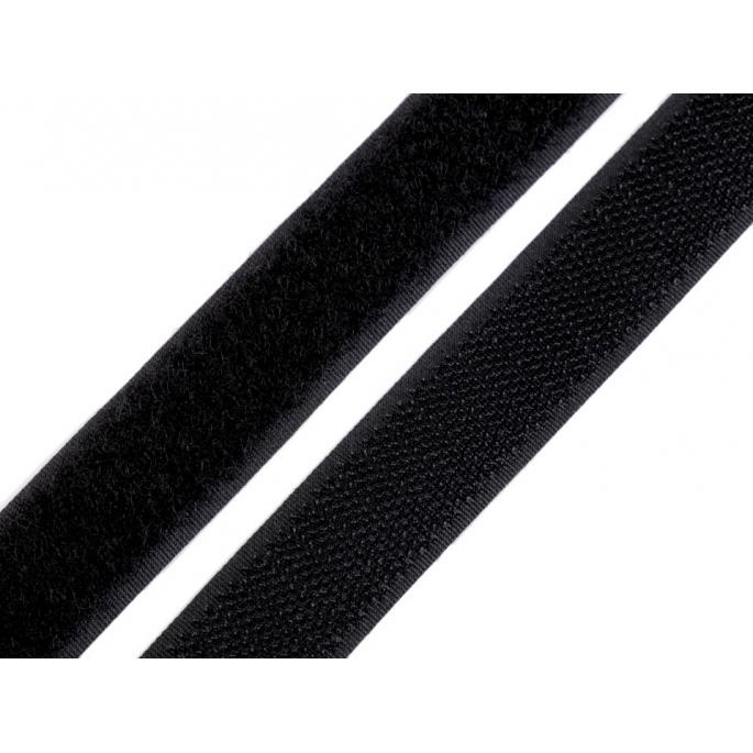 Scratch 3.0cm BOUCLE et CROCHET Noir (au mètre)