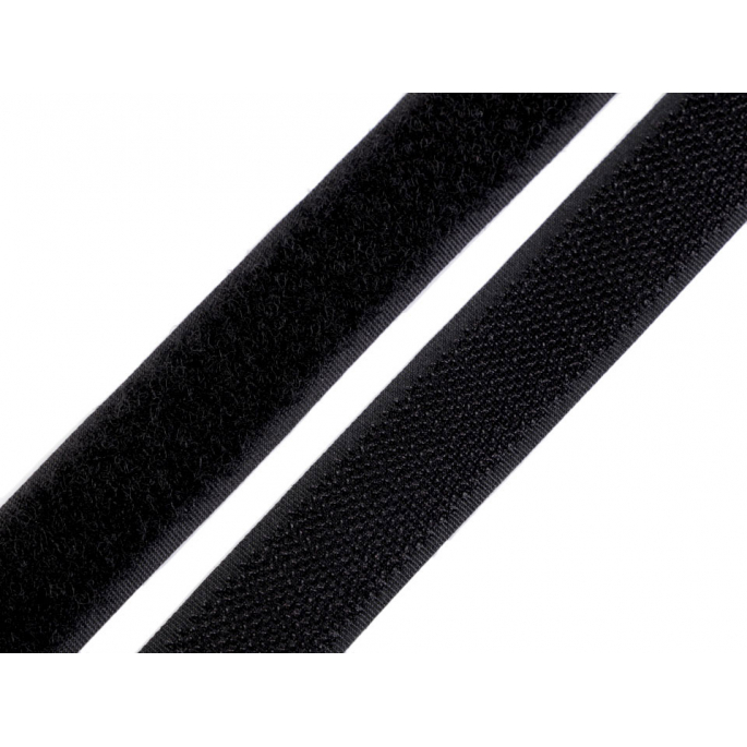 Scratch 3.0cm HOOK & LOOP Black (1m)