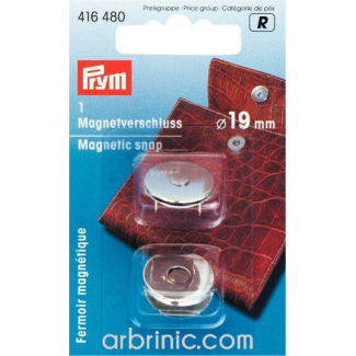 Fermoir magnétique 19mm Argent