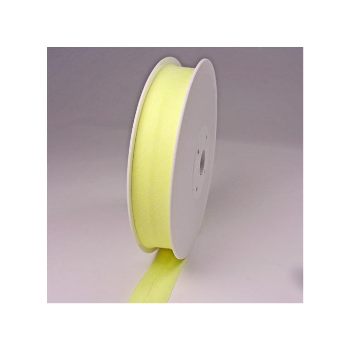 Biais 30mm jaune vanille (au mètre)