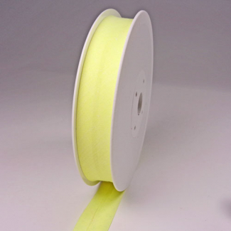 Biais 30mm jaune vanille (bobine 25m)
