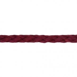 Cordon Anorak tresse plate 5mm Bordeau (bobine 50m)
