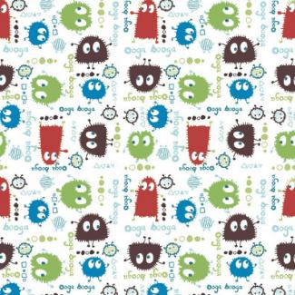 PUL poly print Autumn Ooga Booga width 140cm (per 10cm)