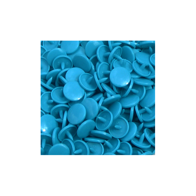 Pressions KAM T5 Pointe Longue - Turquoise B46 - 100 jeux RONDS