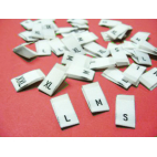 "10 woven labels ""4"" (white background)"