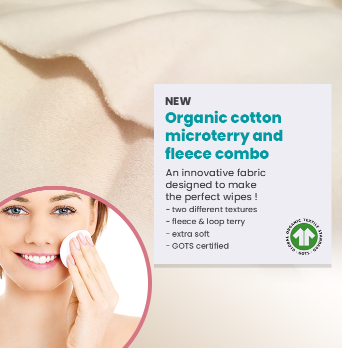 Bi-fold organic cotton fabric special wipe